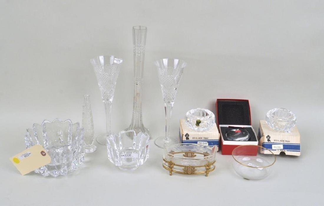 Group 11 Orrefors, Waterford & Baccarat Items
