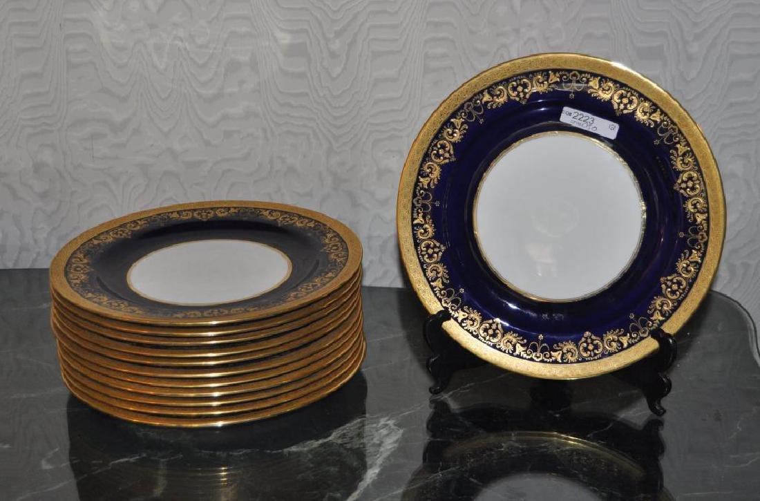 Set Twelve English Cauldon Dinner Plates