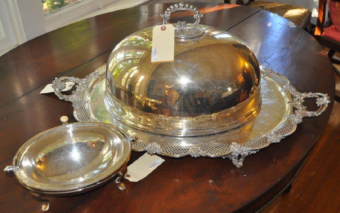 Estate Group Three Silver Plated Wares