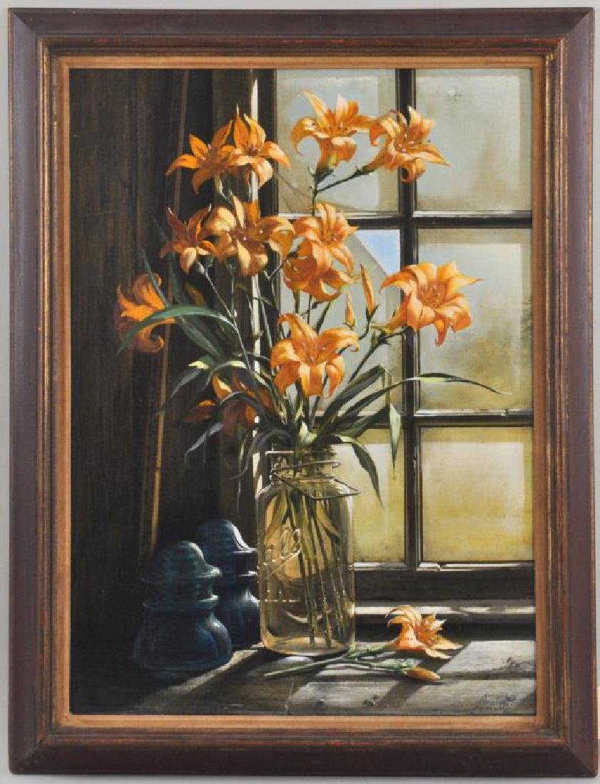 William Ward Beecher, O/M Floral Still Life