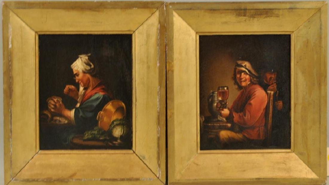 Pair Old Master Style Framed Portraits O/B