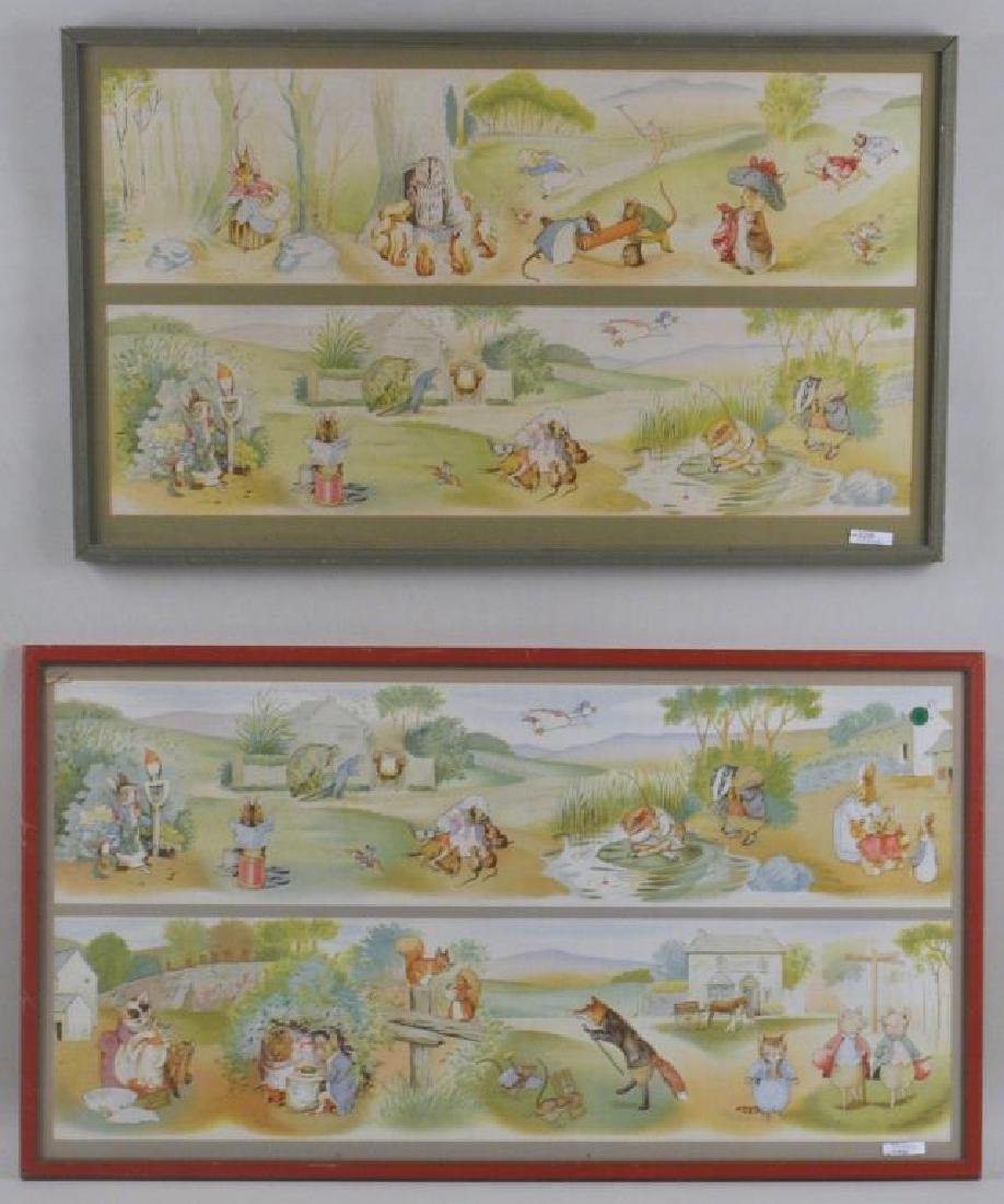 Four Framed Prints of Beatrix Potter Illustrations