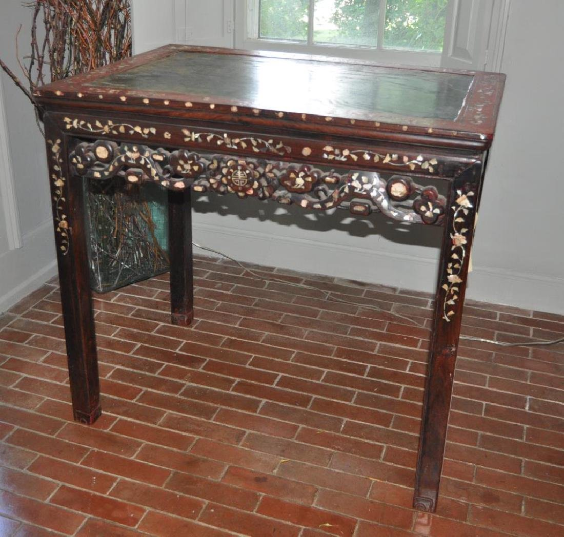 Chinese Red/Brown Lacquered Table