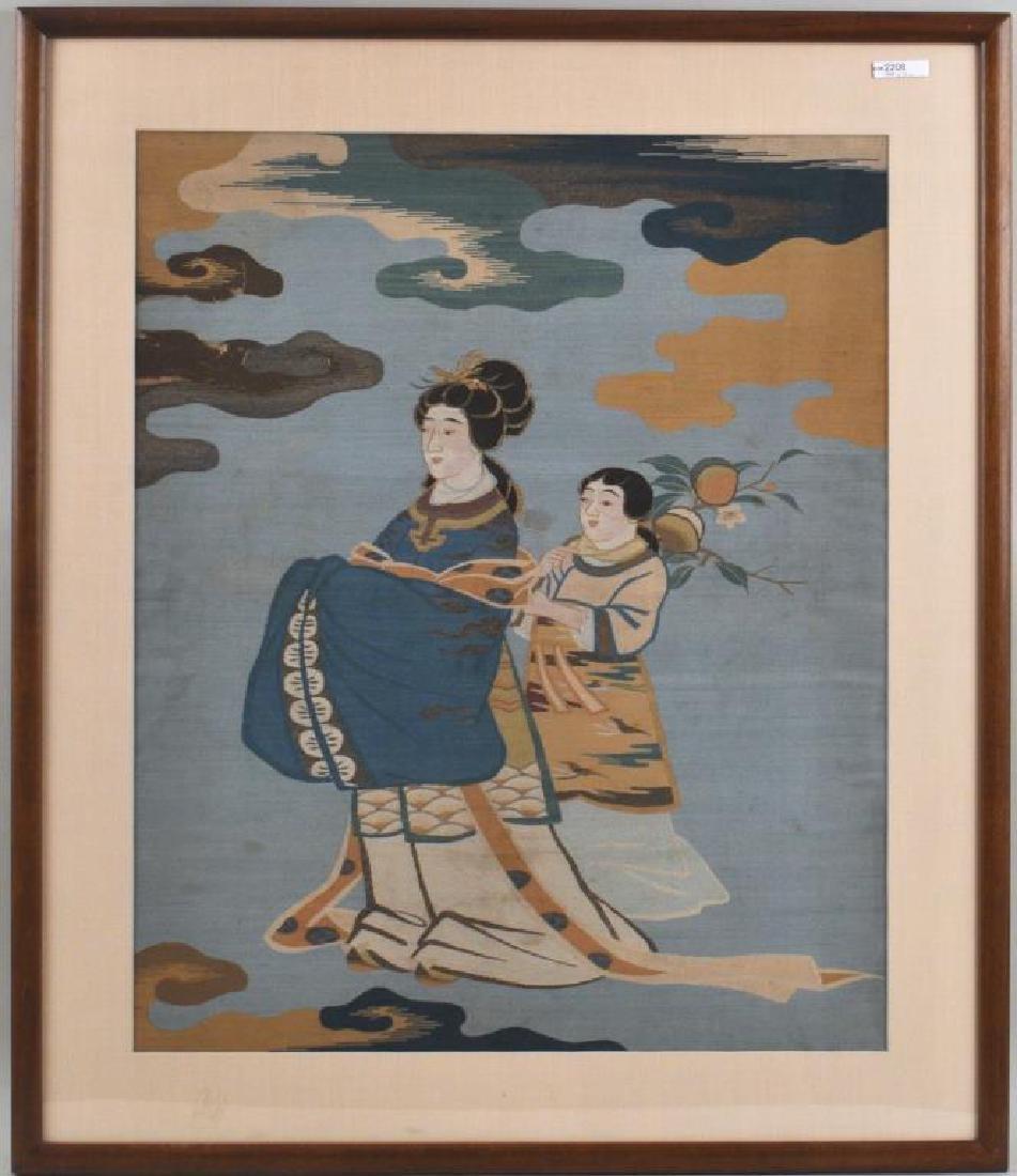 Japanese Woven Silk Kesi Panel