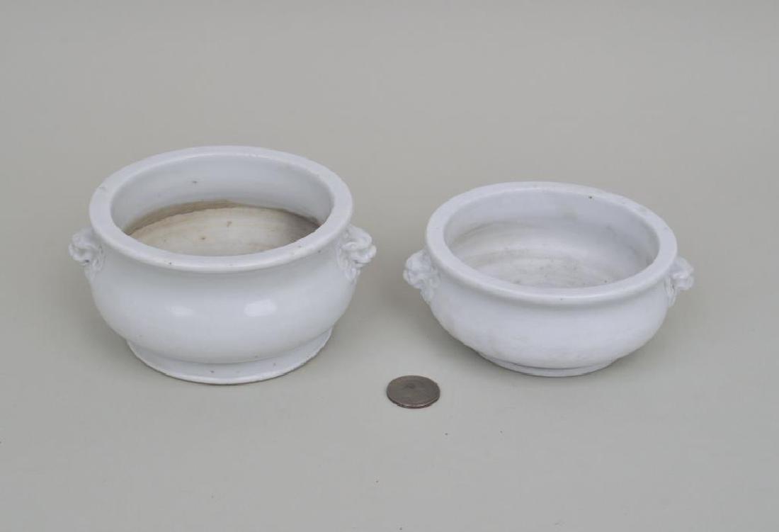 Two Similar Blanc de Chine Censers