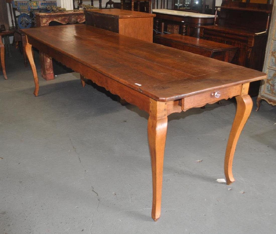 Long French Provincial Weaver's or Farm Table