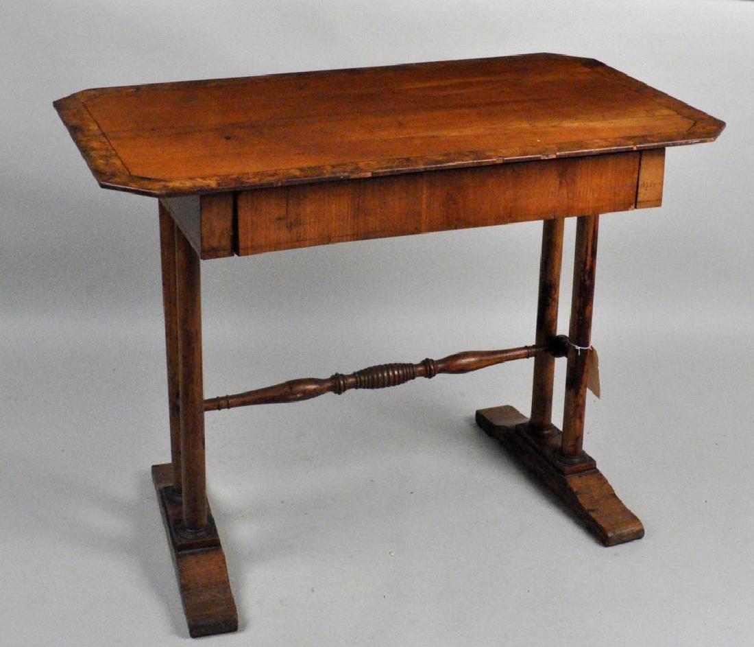 Continental Burled Walnut/Fruitwood Writing Table