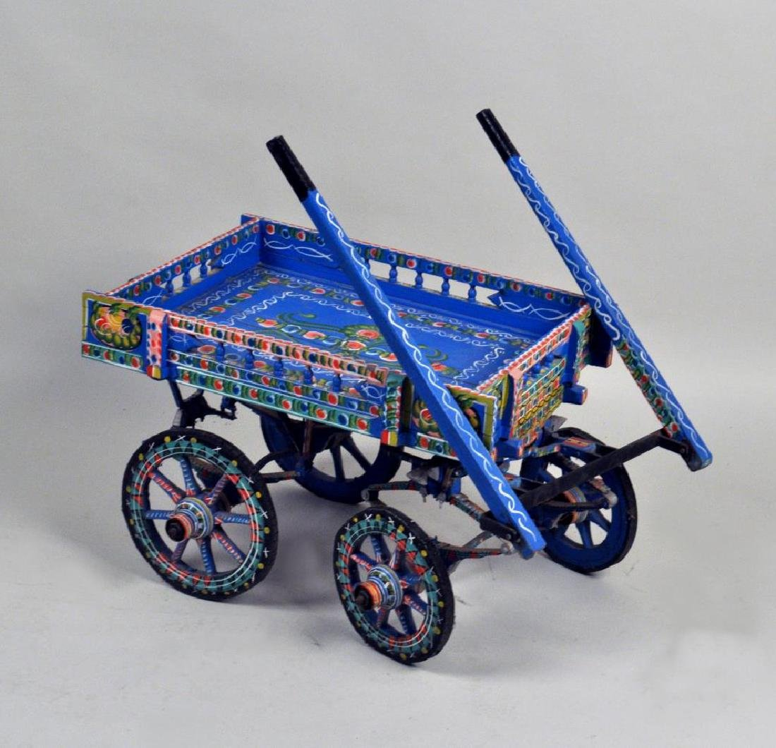 Continental Painted Donkey Cart