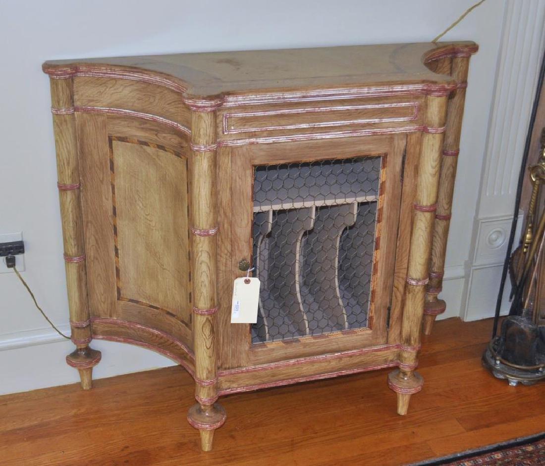 Regency Style Faux Bamboo Cabinet
