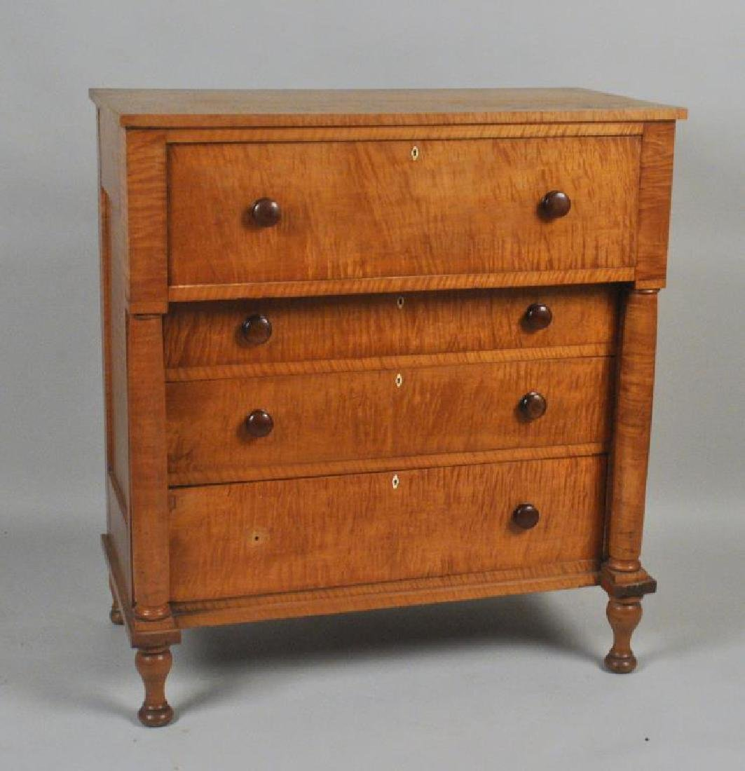 Highly Figured Tiger Maple Bonnet Chest