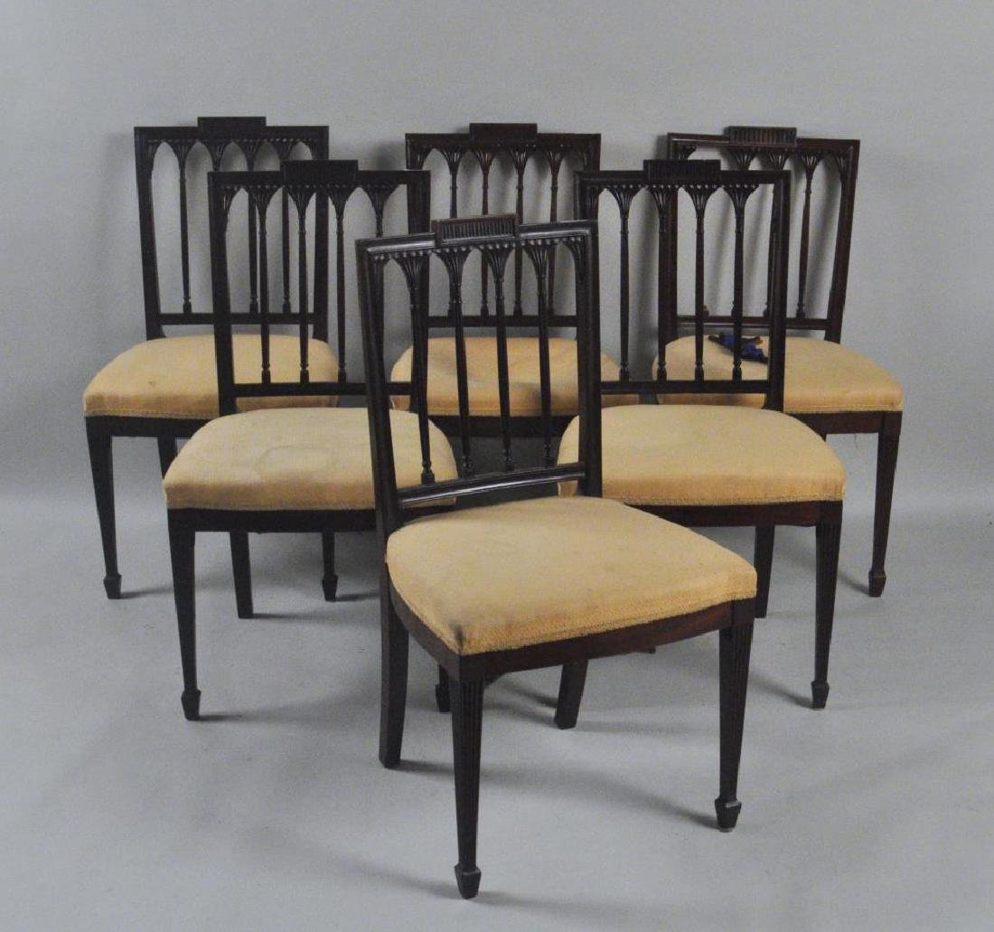 Set Six Federal Style Mahogany Dining Chairs
