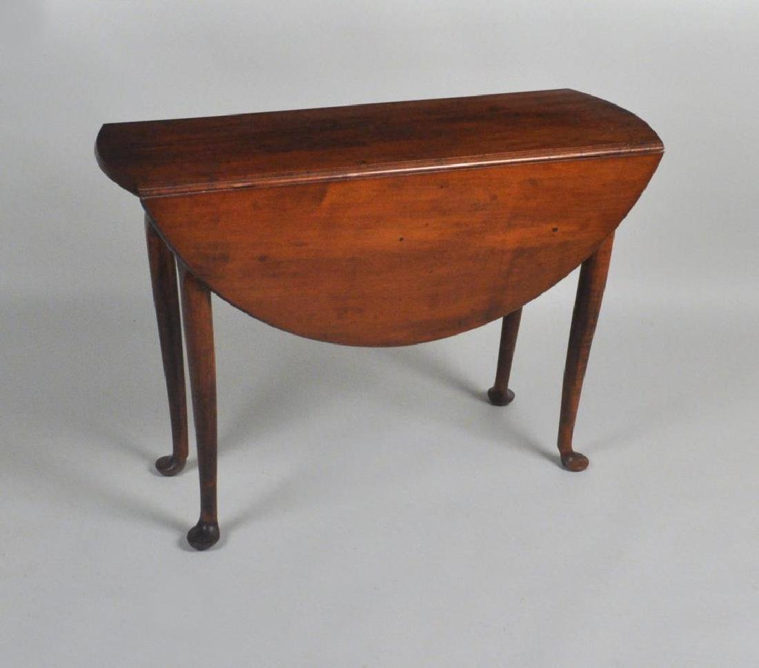 Queen Anne Oval Maple Drop Leaf Table