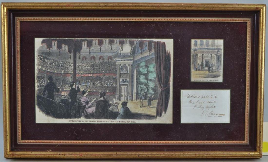 Framed PT Barnum Autograph