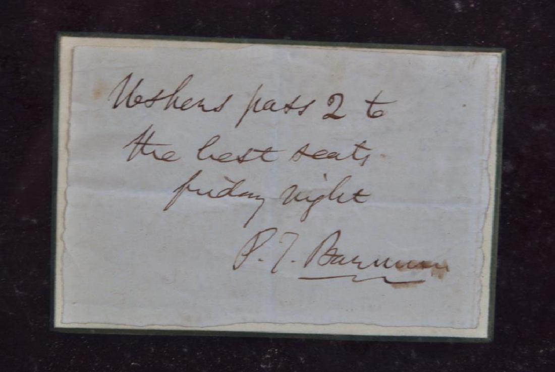 Framed PT Barnum Autograph - 4