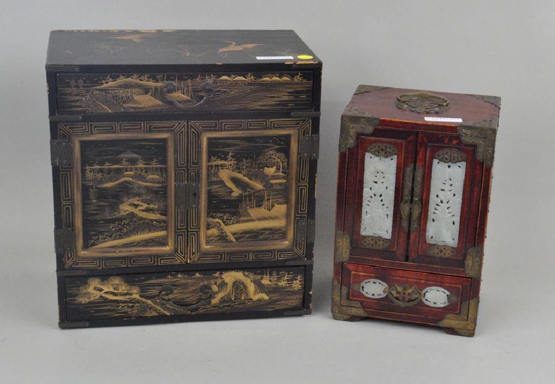 Japanese Lacquer & Chinese Hardstone/Wood Chest