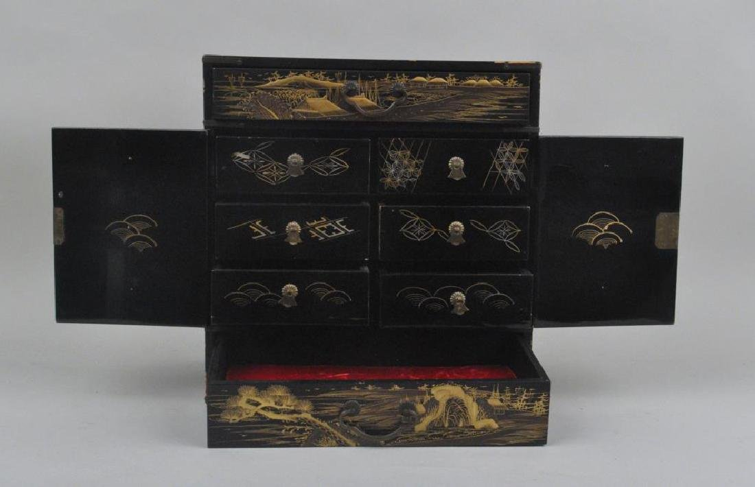 Japanese Lacquer & Chinese Hardstone/Wood Chest - 3