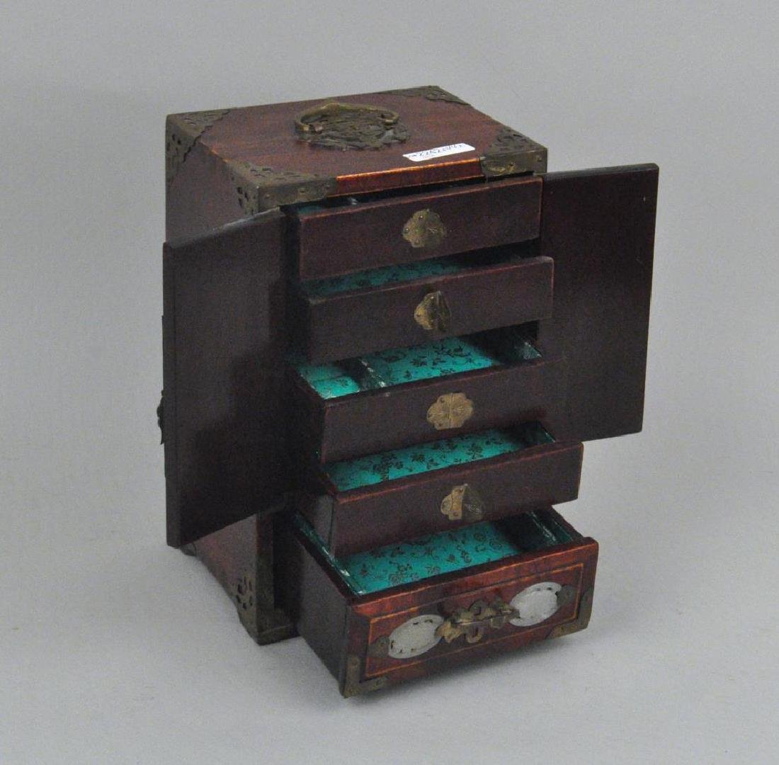 Japanese Lacquer & Chinese Hardstone/Wood Chest - 4