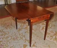 NE Hepplewhite Inlaid Mahogany Pembroke Table