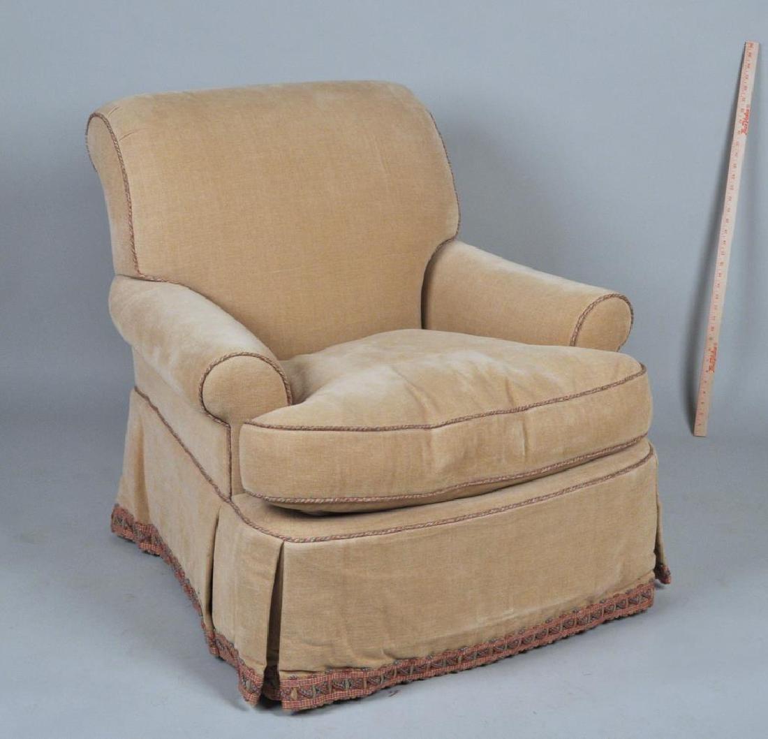 Pair Lee Jofa Designer Upholstered Club Chairs - 2