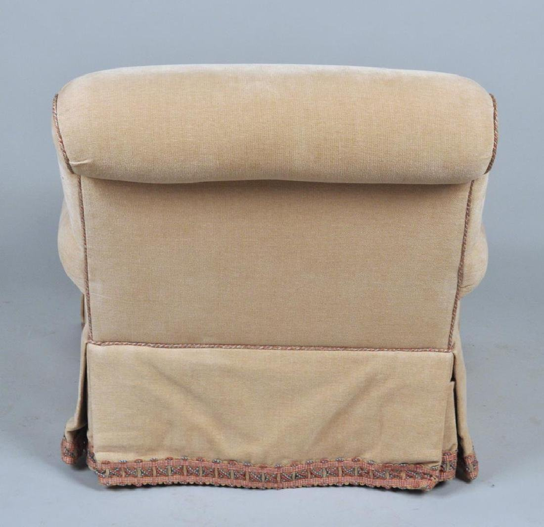 Pair Lee Jofa Designer Upholstered Club Chairs - 4