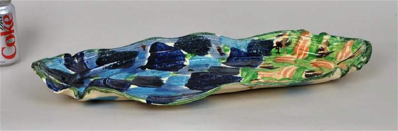 Betty Woodman Oval Ceramic Platter