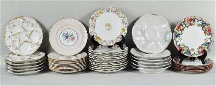 Group Oyster & Luncheon Plates