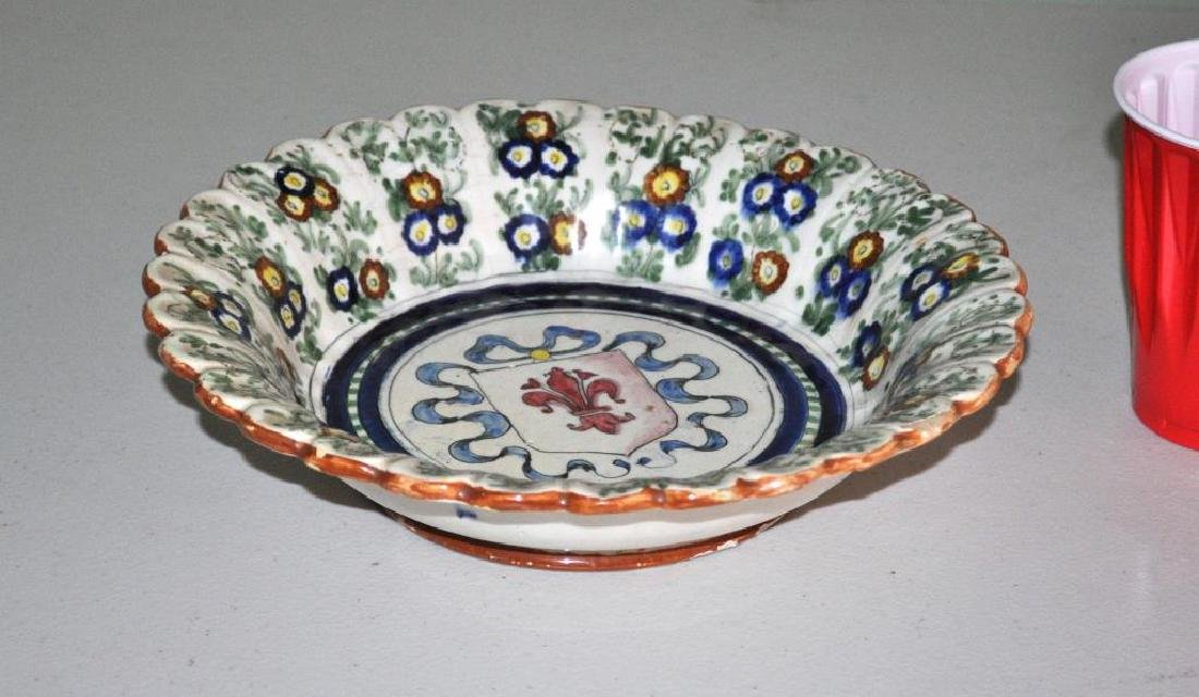 Scalloped Edge Armorial Faience Plate