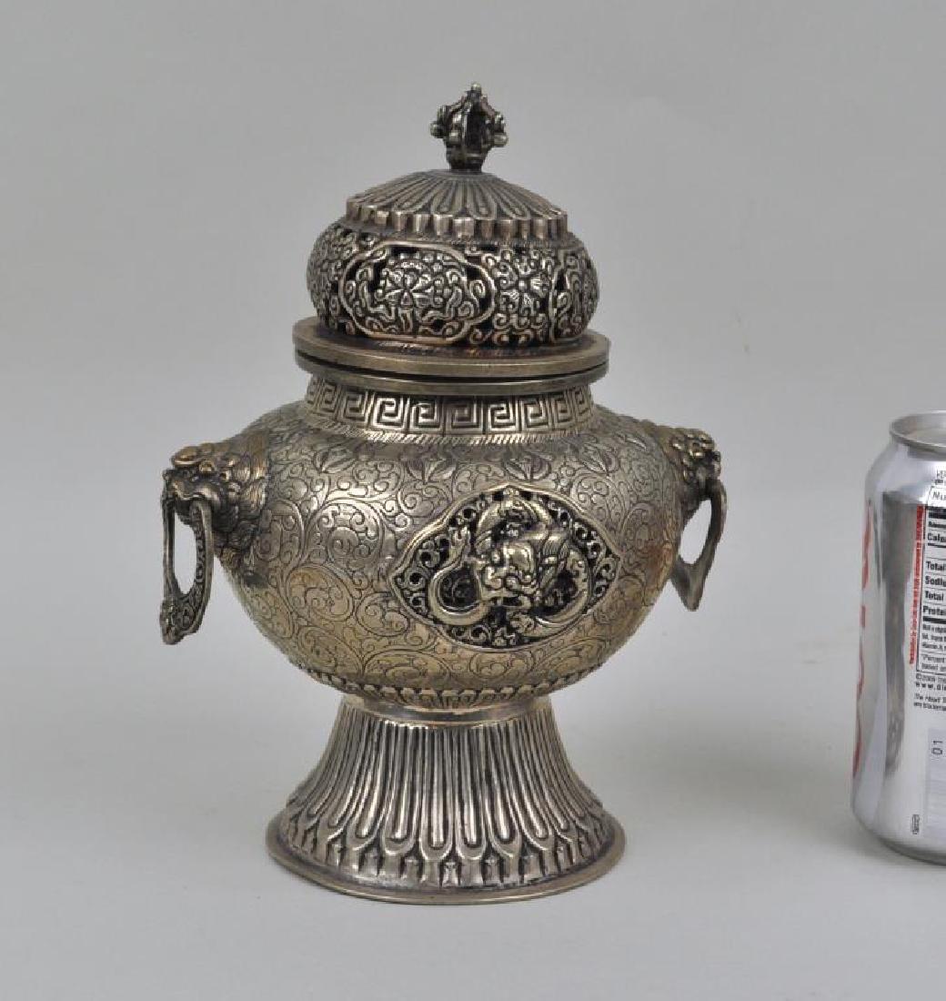 Nepalese German Silver Censer