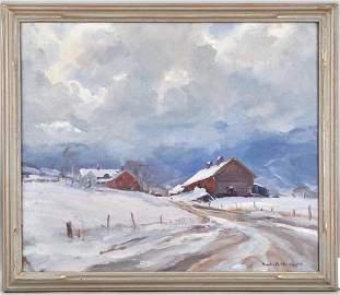 """Emile Gruppe O/C """"First Snow"""", Original Invoice"""