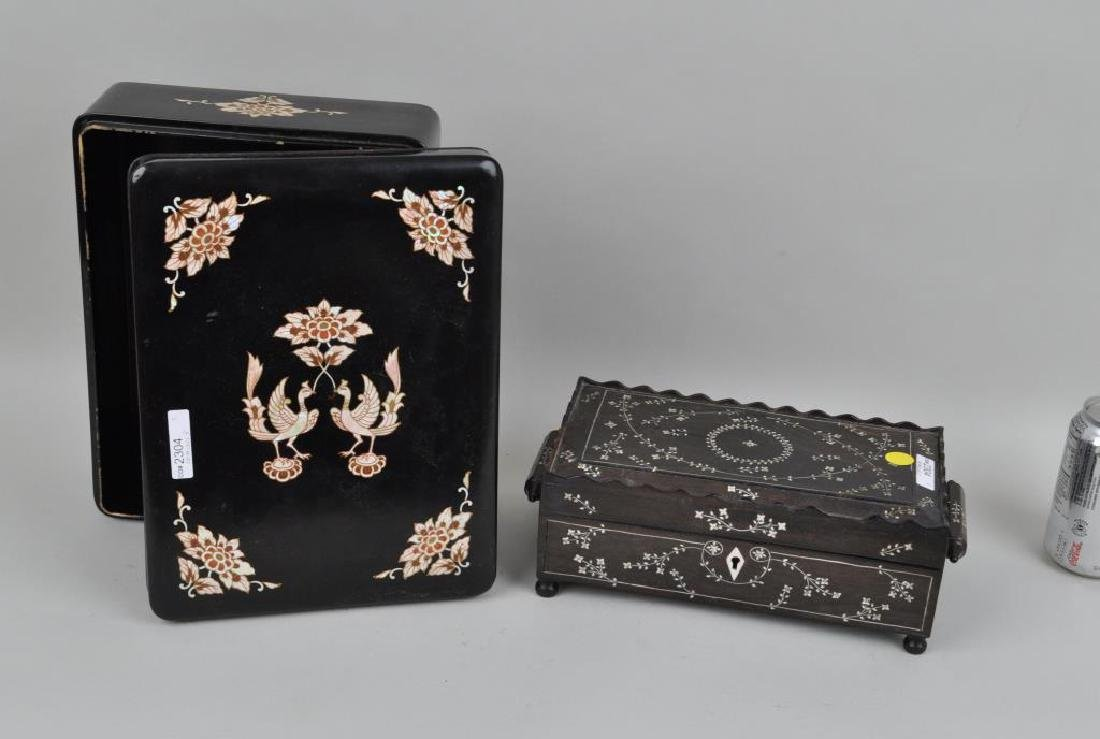 Anglo-Indian Inlaid Box & MOP Inlaid Box