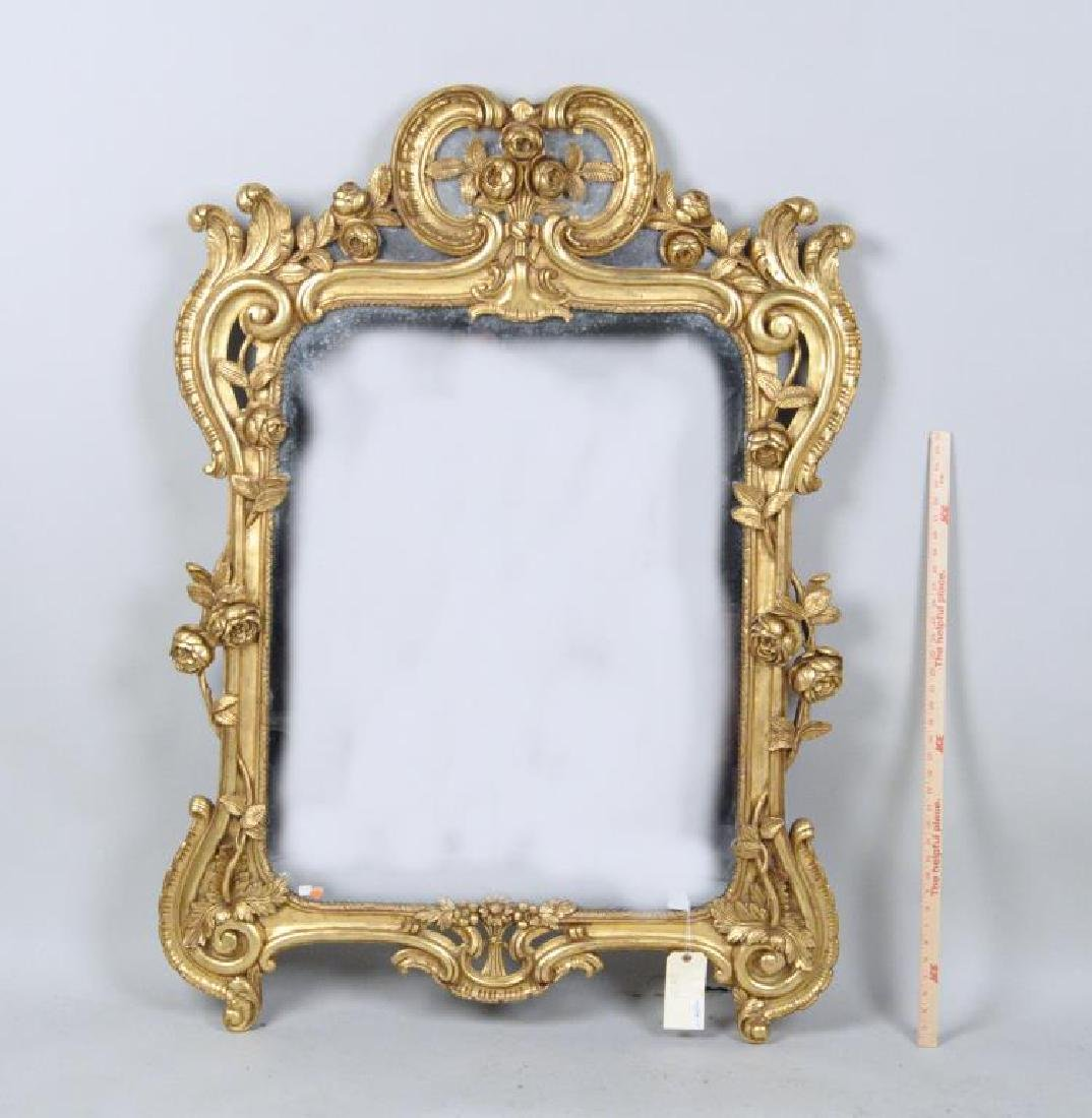 Rococo Style Carved Giltwood Mirror