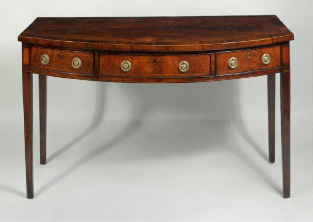 George III Inlaid Mahogany Serving Table