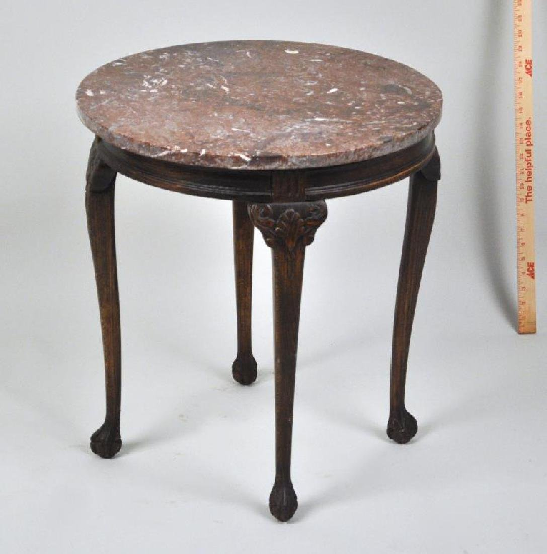 Continental 18th C. Style Round M/T Side Table