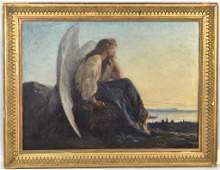 Alexandre Cabanel O/C, Angel Looking Out to Sea