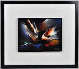 "Leonardo Nierman, ""Bird of Paradise"" O/M"