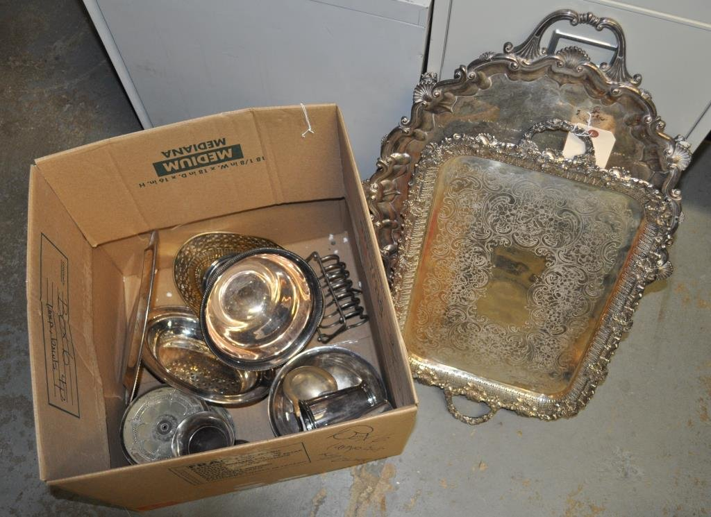 Estate Group Assorted Silver Plated Items