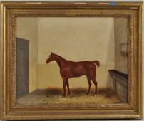 J Pollett OC Equestrian Painting 19th C