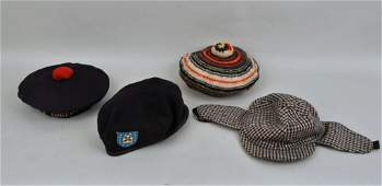 French Navy Hat With City Badges Rangers Beret