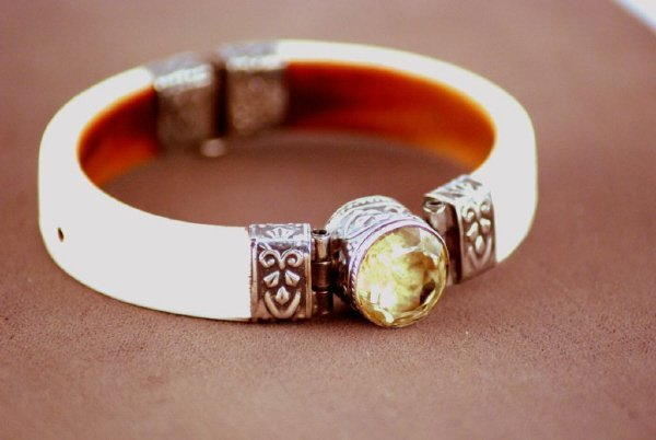 7C: Two Ivory and Silver Bracelets
