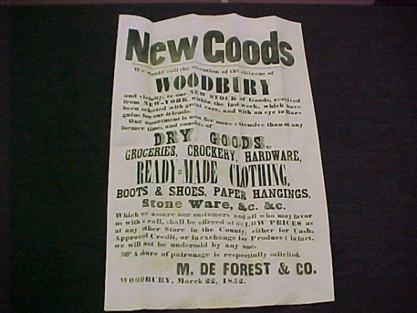 2: Advertising Handbill M. DeForest & Co.