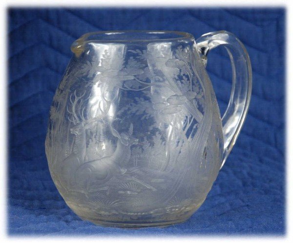 10: Tiffany Glass Serving Pitcher