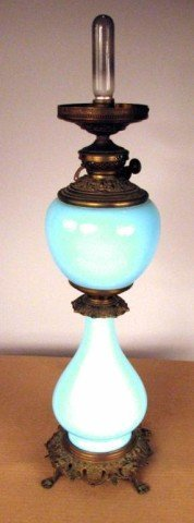 13: Opal Glass Parlor Lamp