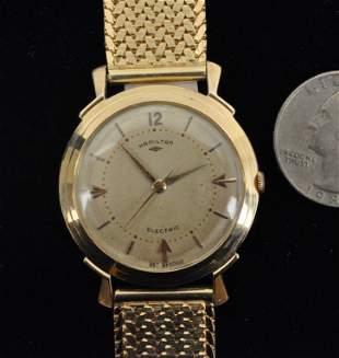 14K Gold Hamilton Wristwatch