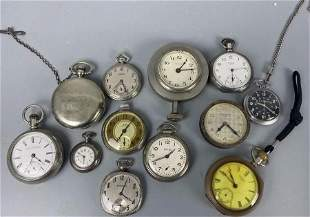 Group Silver/Silver Tone Open Face Pocket Watches