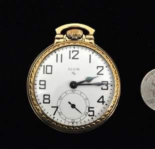 Elgin Pocket Watch, Arabic Number Dial