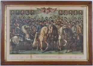 Kurz & Allison Lithograph - Civil War Generals