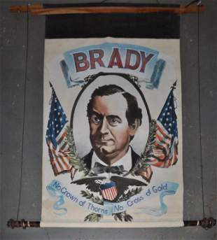 Brady Political Painted Portrait Banner