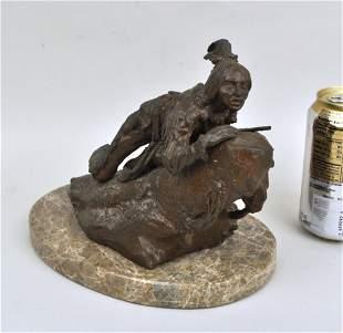 After C. Kauba, Native American Scout, Bronze