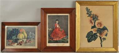 Two Framed Currier & Ives Lithographs