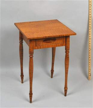 American Country Sheraton Tiger Maple Stand